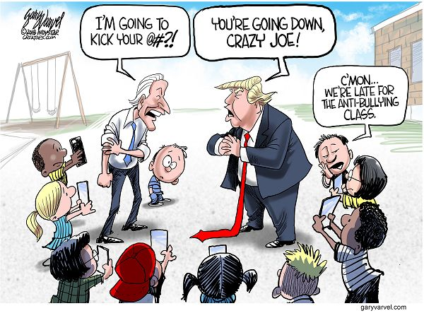 Trump vs. Biden Cartoon