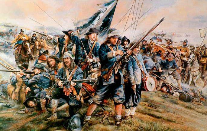 Battle of Naseby bluecoats