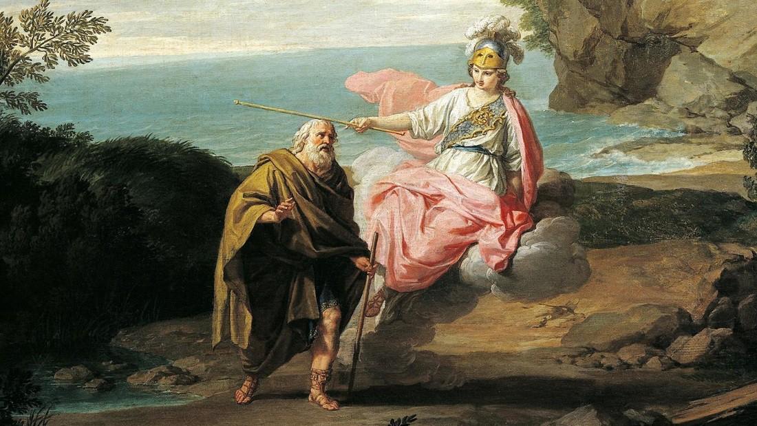 Odysseus and Athena.