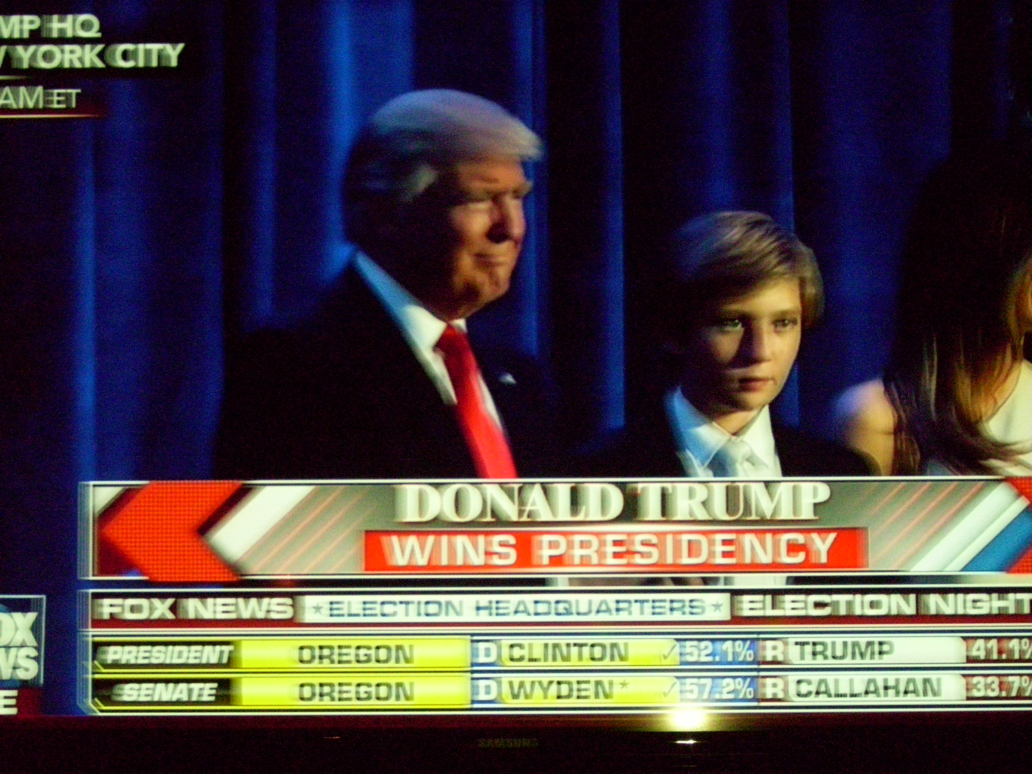 President-Elect Donald Trump wins presidency