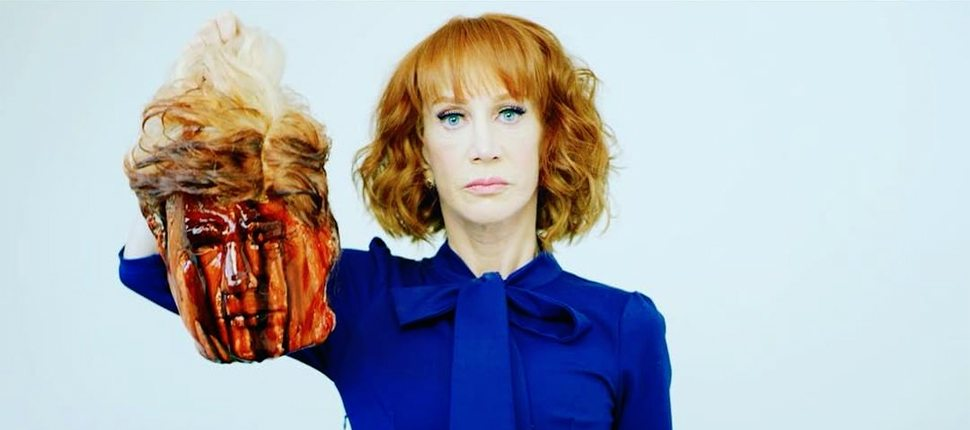 Kathy Griffin Trump head