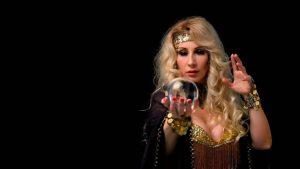 Hot fortune teller crystal ball