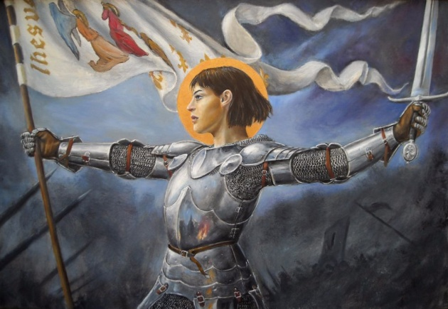Joan of Arc in battle