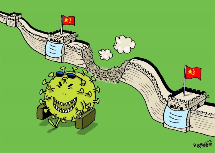 Trump Coronavirus cartoon