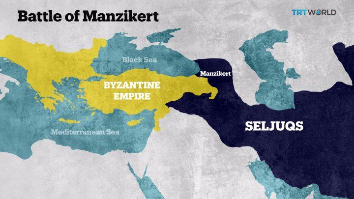 Battle of Manzikert map
