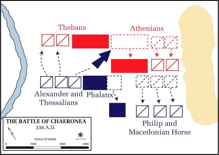 Battle of Chaeronea map
